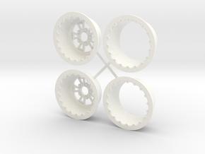 1/12 RCComponents Wheel narrow width in White Processed Versatile Plastic