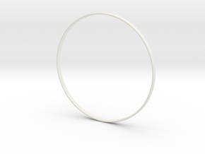 Ring Standard Shapeways Size 7  in White Strong & Flexible
