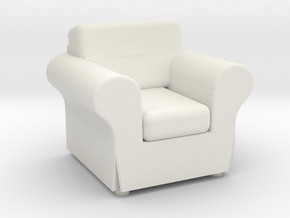 EKTORP Chair - HO 87:1 Scale in White Natural Versatile Plastic