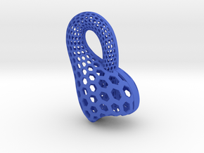 Klein Bottle in Blue Strong & Flexible Polished