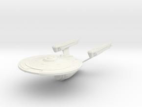 Enterpirse Class Refit  BattleCruiser in White Natural Versatile Plastic