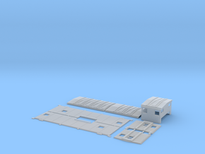 SSW 1-25 Caboose Body Kit, Gaskets in Smooth Fine Detail Plastic