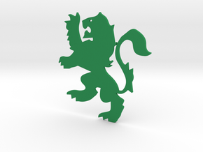 Lion Flat in Green Strong & Flexible Polished