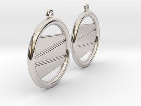 Earring GP Pair in Rhodium Plated Brass