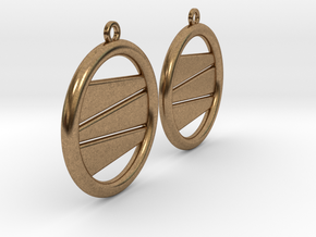 Earring GH Pair in Natural Brass