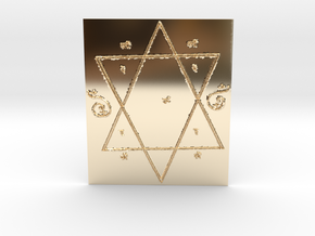 Lakshmi Yantra all Wishes Come True in 14k Gold Plated Brass