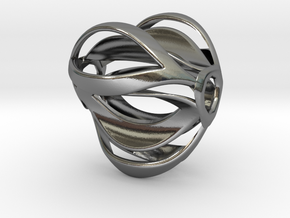 Tribus Pendant in Polished Silver