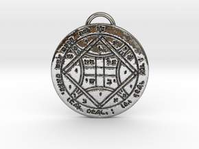Fourth Pentacle of Venus Greater Key of Solomon in Fine Detail Polished Silver