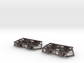 Blackpool Lancaster Bogies With Ploughs & Wheels in Polished Bronzed Silver Steel
