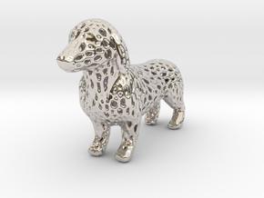 Voronoi Dachshund in Platinum