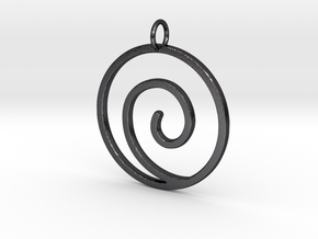 Uzumaki Clan Pendant in Polished and Bronzed Black Steel