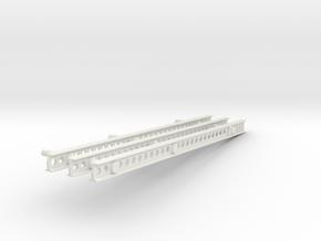 Katyusha Short Left Rails 1:35 scale in White Natural Versatile Plastic