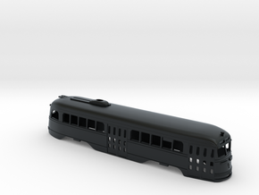 N Scale Prewar PCC TTC BODY #1 in Black Hi-Def Acrylate