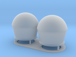 1:144 SatCom Dome Set 2 in Smooth Fine Detail Plastic
