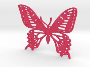 Butterfly Pendant vs 01 in Pink Processed Versatile Plastic