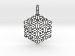 Snow Crystal in Natural Silver