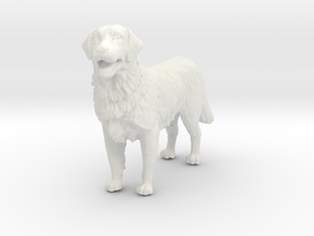 1/12 Golden Retriever Standing in White Natural Versatile Plastic