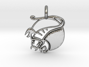 Astrology Zodiac Scorpio Sign  in Natural Silver