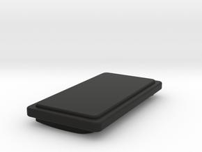 The Gambler Button in Black Natural Versatile Plastic
