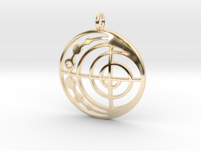 Abstract Pendant in 14k Gold Plated Brass