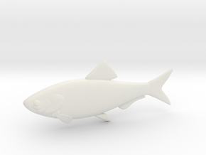 "5"" BiteMe simplistic swim bait (master) in White Strong & Flexible"