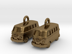 VW Van Earrings in Natural Bronze