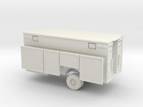 1/64 Heavy Rescue Body Single Axle in White Natural Versatile Plastic