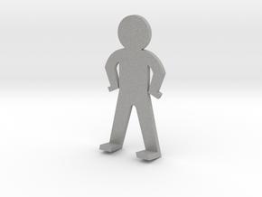 Standing guy funny in Aluminum