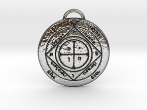 Fifth Pentacle of Saturn in Fine Detail Polished Silver