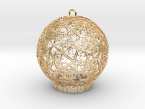 Thelema Ornament in 14k Gold Plated Brass