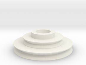 Imperial Disk With Notch in White Natural Versatile Plastic