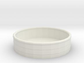 8 Foot Trough Drinker 1/64 1:64  in White Natural Versatile Plastic: 1:64 - S