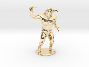 Hook Horror Miniature in 14k Gold Plated Brass: 1:60.96