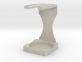 Drip Brush and Shaving Stand in Natural Sandstone