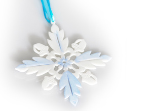 Grand Central Snowflake - Flat in White Processed Versatile Plastic