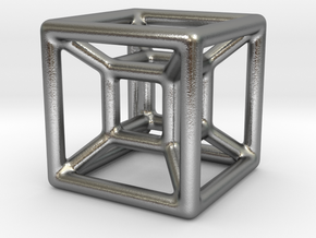 The Hypercube in Natural Silver