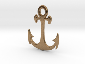 Anchor Pendant in Natural Brass