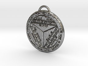 Seventh Pentacle of Saturn in Fine Detail Polished Silver