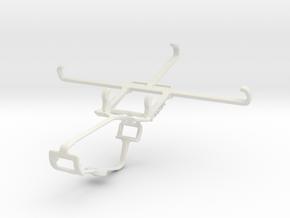 Controller mount for Xbox One & Motorola Moto M in White Natural Versatile Plastic