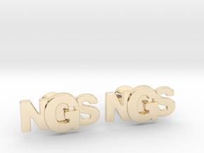 Monogram Cufflinks NSG in 14k Gold Plated Brass