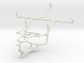Controller mount for PS4 & QMobile Linq L15 in White Natural Versatile Plastic