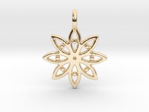 A Flower C Earring in 14k Gold Plated Brass