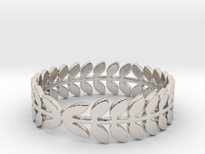 Laurel Ring (size 4-13) in Rhodium Plated Brass: 4 / 46.5
