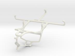 Controller mount for PS4 & QMobile Noir Z10 in White Natural Versatile Plastic