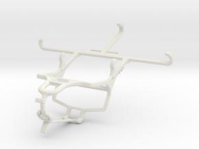 Controller mount for PS4 & QMobile Noir Z8 Plus in White Natural Versatile Plastic