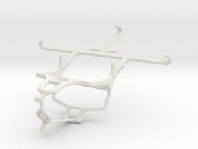 Controller mount for PS4 & QMobile Noir Z9 in White Natural Versatile Plastic