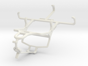 Controller mount for PS4 & QMobile T200 Bolt in White Natural Versatile Plastic
