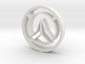Overwatch Cookie Cutter in White Natural Versatile Plastic