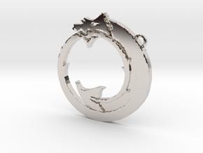 Tzimisce clan symbol pendant in Rhodium Plated Brass