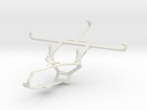 Controller mount for Steam & Yezz Monte Carlo 55 L in White Natural Versatile Plastic